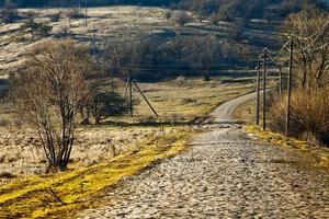 strada campestre, strada del villaggio foto