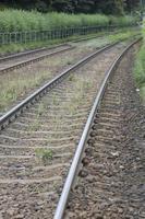 binari della ferrovia foto