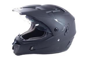 casco da motociclista nero foto