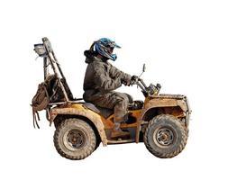 Moto 4x4 isolata foto