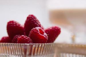 dessert di lamponi foto