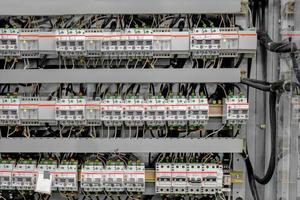 sala di controllo di una centrale elettrica foto