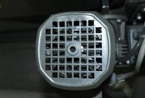 pala del rotore del motore illuminata foto