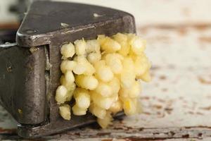 aglio schiacciato e spremiagrumi