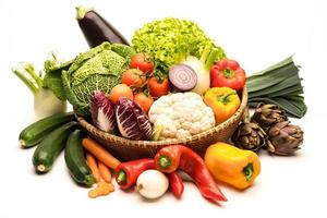 natura morta con verdure