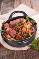 lenticchie e carni foto