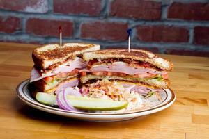 sandwich di tacchino foto