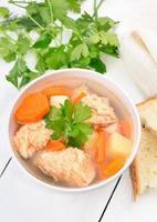 zuppa di pesce con salmone