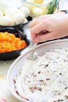aringa russa tradizionale dell'insalata sotto la pelliccia foto