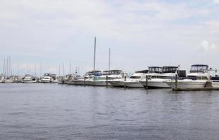 barche attraccate a Baltimora, md