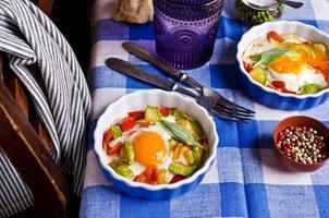 uova fritte con verdure foto