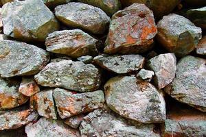 sfondo di recinzione di roccia impilata foto