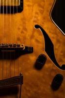 primo piano della chitarra
