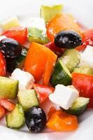 macro di insalata greca foto