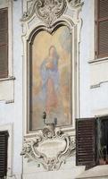affresco vergine, opera del 17 ° secolo foto