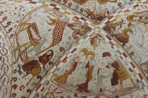 stile biblia pauperum - affreschi in chuch danese foto