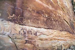 petroglifi, mesa verde, arizona foto