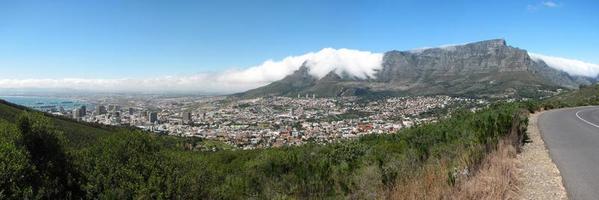 vista panoramica di città del capo