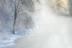 inverno, fiume Kalamazoo foto
