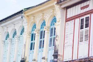 vecchi edifici in stile portoghese sino foto