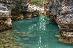 fiume del canyon di Maligne foto