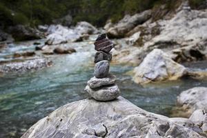 fiume Isonzo in slovenija foto