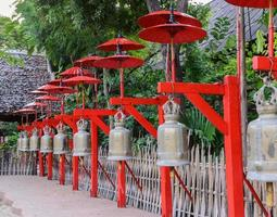 campane buddisti a Chiang Mai, Tailandia