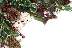 jingle bell e stella cornice natalizia foto
