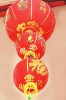 Lanterne cinesi durante il festival di Capodanno foto