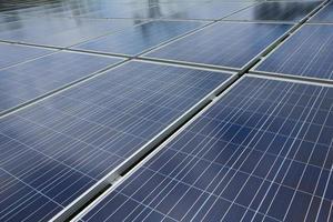 stock photo: primo piano del pannello solare