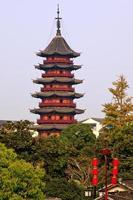 La pagoda di Ruigang risale alla dinastia Song di Suzhou China
