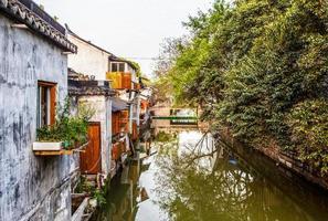 case popolari e canali di Suzhou foto