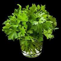 prezzemolo erbe aromatiche in vetro