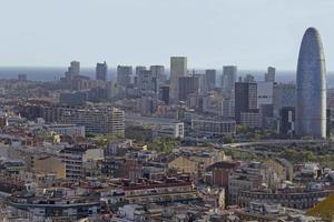 skyline di Barcellona foto