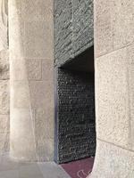 Ingresso laterale della Sagrada Familia, Barcellona, Spagna foto