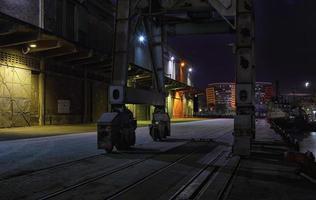 dar es salaam docks di notte foto