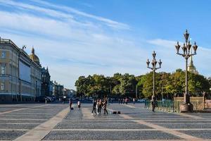 piazza del palazzo in v. peterbsurg, russia. foto