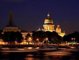 cattedrale di notte san pietroburgo. foto