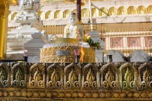 vista esteriore del tempio a Yangon Myanmar foto