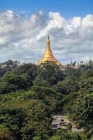 Pagoda di Shwedagon a Yangon, Myanmar
