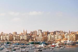 Vista panoramica di Alessandria, Egitto.