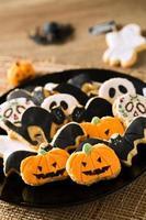biscotti di halloween felici foto