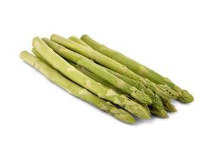 asparagi isolati su bianco - immagine di riserva foto