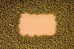 fagioli verdi con spazio di copia rettangolare foto