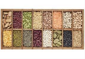 set di 16 campioni di legumi foto
