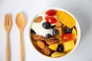 macedonia di frutta foto