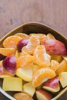 macedonia di frutta fresca foto
