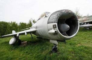 vecchio aereo da combattimento foto
