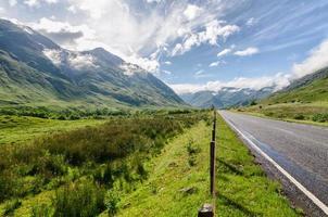 paesaggio scozzese degli altopiani di montagna