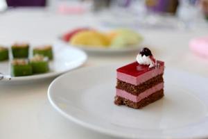 dolce viola con aromi. foto